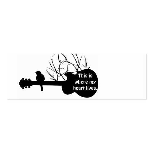 guitar, This is where my heart lives. Pack Of Skinny Business Cards