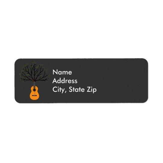 Guitar Tree Return Address Label