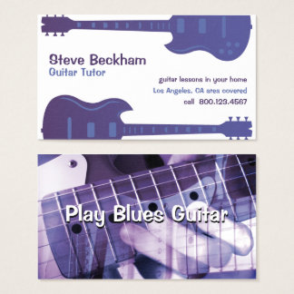 Guitar Tutor Business Card