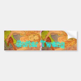 Guitar Twang Girl Bumper Sticker