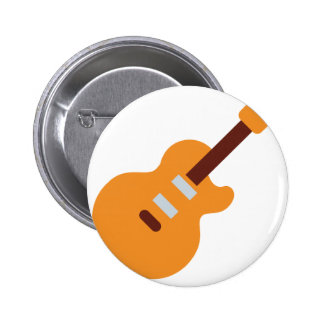 Guitar - Twitter Emoji 6 Cm Round Badge