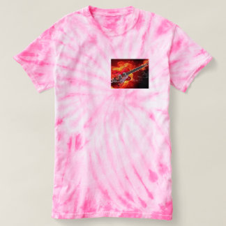 guitar tye dye t shirt