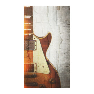 Guitar Vibe 1- Single Cut 59 Stretched Canvas Print