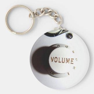 Guitar Volume Knob Basic Round Button Key Ring