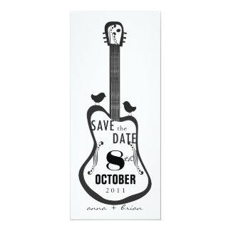 Guitar with Love Birds Card
