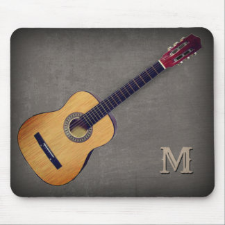 Guitar with (or without) your Initial(s) Mouse Pad
