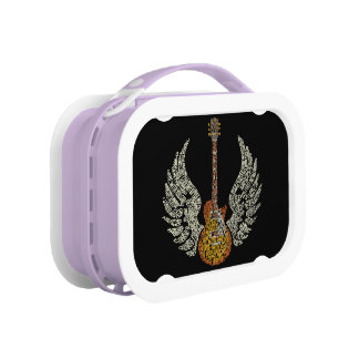 Guitar with wings lunch box