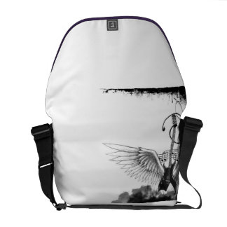 Guitar with Wings Rickshaw Messenger Bag