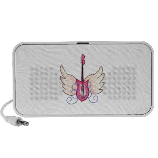 Guitar with Wings Notebook Speakers
