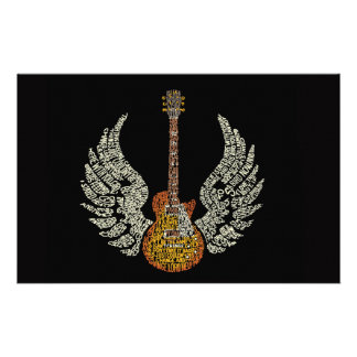 Guitar with wings stationery