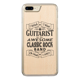 GUITARIST awesome classic rock band (blk) Carved iPhone 8 Plus/7 Plus Case