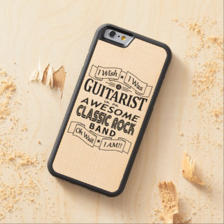 GUITARIST awesome classic rock band (blk) Carved Maple iPhone 6 Bumper Case