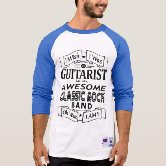 GUITARIST awesome classic rock band (blk) T-Shirt