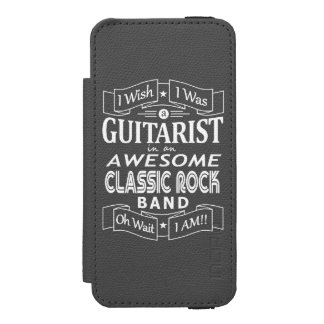 GUITARIST awesome classic rock band (wht) Incipio Watson™ iPhone 5 Wallet Case