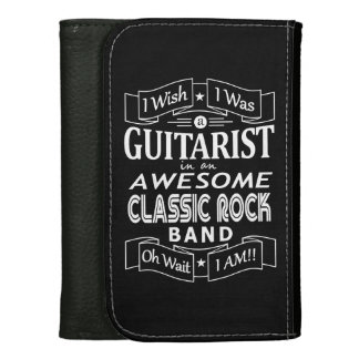 GUITARIST awesome classic rock band (wht) Wallet