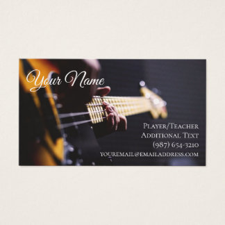 Guitarist Business Card  - Teacher Songwriter Band