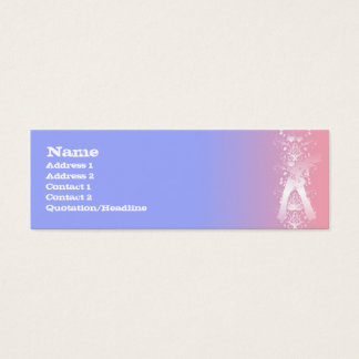 Guitarist Decor - Skinny Mini Business Card