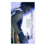 Guitarist Headshot for Musician Business Card Template