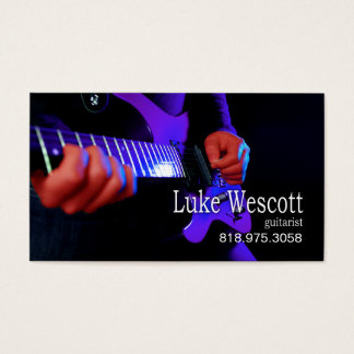 Guitarist Musician for Music Business Card