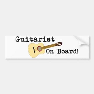 Guitarist on Board -- Acoustic Bumper Sticker