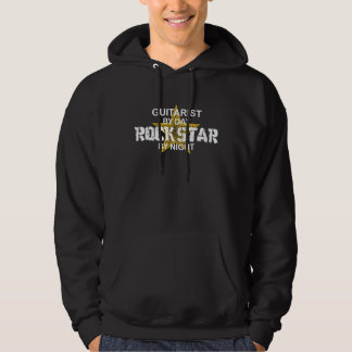 Guitarist Rock Star by Night Hoodie