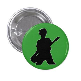 Guitarist Silhouette - B&W 3 Cm Round Badge