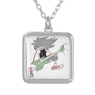Guitarist Silver Plated Necklace