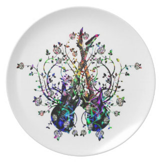 Guitars And Roses  Melamine Plate #3