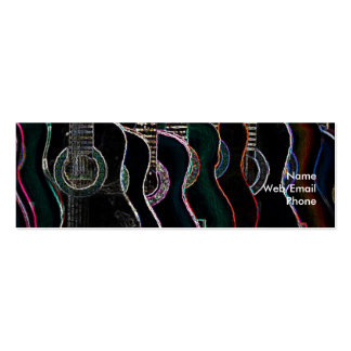 Guitars & music pack of skinny business cards