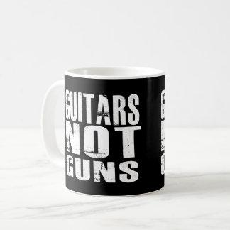 Guitars Not Guns 11 oz Coffee Mug