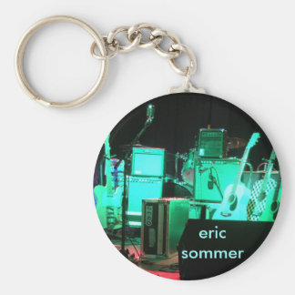Guitars on Stage Basic Round Button Key Ring