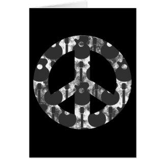 Guitars peace card