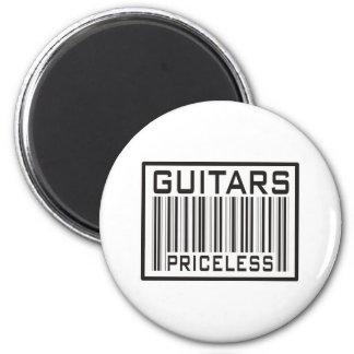 Guitars Priceless 6 Cm Round Magnet