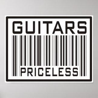 Guitars Priceless Poster