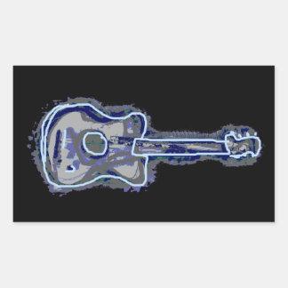guitars rectangular sticker
