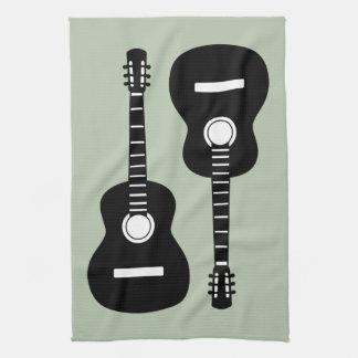 Guitars Tea Towel