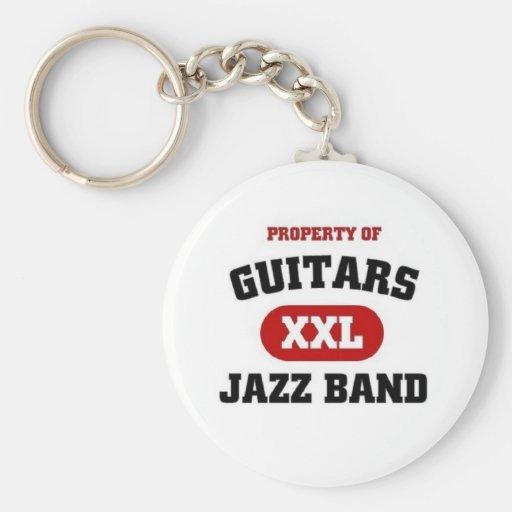 Guitars XXL Jazz band Key Chains