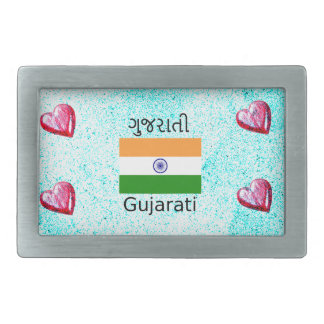 Gujarati (India) Language And Flag Design Belt Buckle
