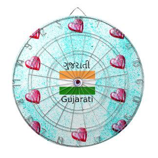 Gujarati (India) Language And Flag Design Dartboard
