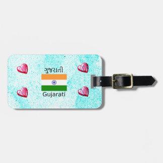 Gujarati (India) Language And Flag Design Luggage Tag