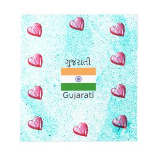 Gujarati (India) Language And Flag Design Notepad