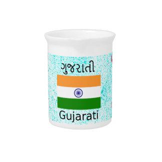 Gujarati (India) Language And Flag Design Pitcher