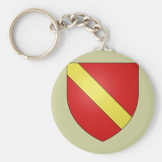 Gules a bend or, Netherlands Key Chain