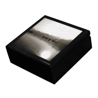 Gulets In Greyscale Large Square Gift Box