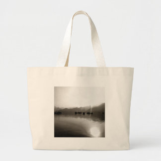 Gulets In Greyscale Large Tote Bag