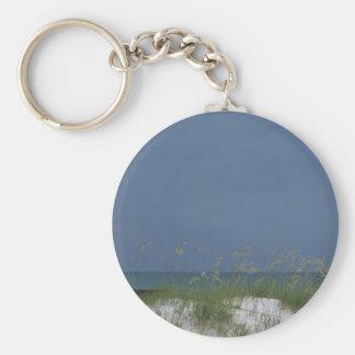 Gulf beach scene key ring