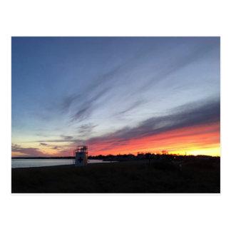 Gulf Beach Sunset Postcard