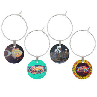 Gulf Catch Wine Charms