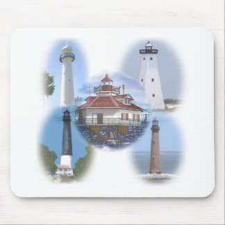 Gulf Coast lighthouses Mouse Pad