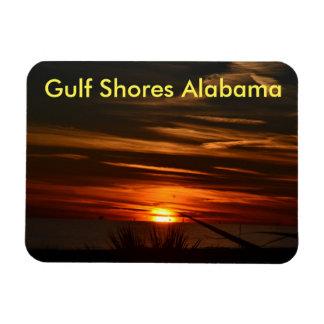 Gulf Coast Sunset Rectangular Photo Magnet